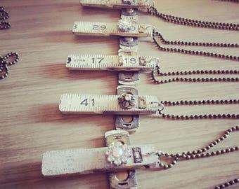 Vintage ruler cross