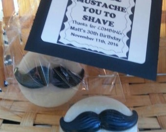 Mustache Shaving Soap Favors, Bachelor Soap Favors, Birthday Party Soap Favors, Kissing lip shaving soap favors, cmooreinspiration