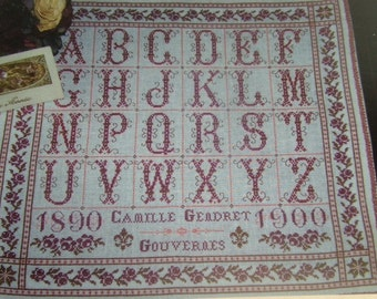 CROSS STITCH CHART Antique French Sampler Pattern 'Alphabet de Camille'