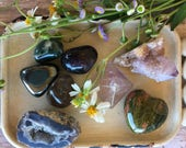 8pc Gemstone Set-Genstones & Minerals-Altar Kit-Crystals and Fossils-Mineral and Fossil Collection