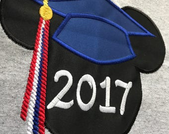 Mickey Graduation Cap Printable Iron On Transfer or Use as ... |Graduation Mickey Mouse Shirts