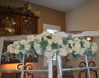 Wedding arch, Rose Arch, Succulent Arch, Wedding Arch, Floral Arch, Silk flower Arch, Cream Wedding Arch, Flower Arch, Wedding Decor