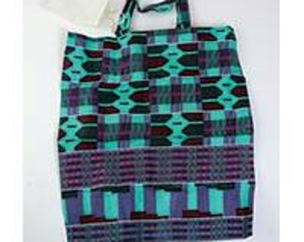 African Kente cloth  Tote