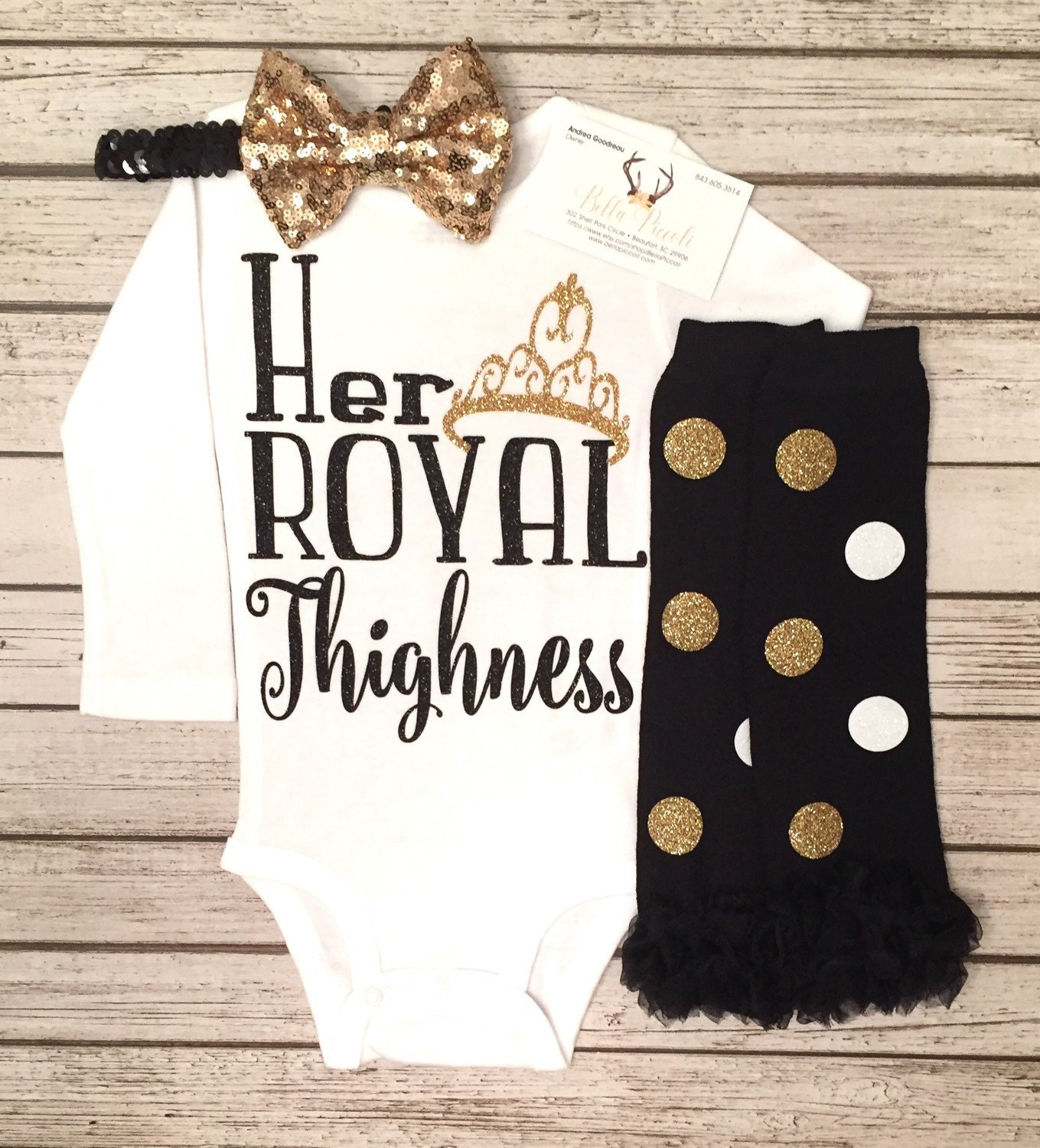 Baby Girl Clothes Her Royal Highness Bodysuit Sparkle Baby