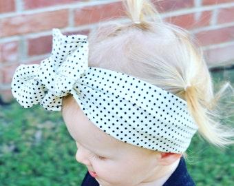 Tiny Dots Head Wrap
