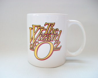 Vintage The Wizard of Oz Mug, The Wizard of Oz Coffee Cup, Vintage Wizard of Oz Logo Mug
