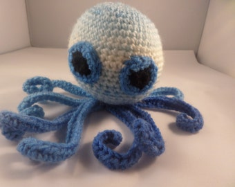 Cat toy, octopus cat toy,  contains catnip, Blue shades toy, polyester wadding, cat plaything,
