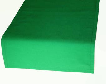 Solid Green Cloth Table Runner in 9 Color Options, Green Solid Table Runner,  Light Green Table Runner, Dark Green Table Runner