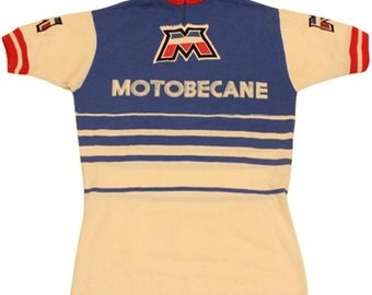 70's vintage MOTOBECANE cycle jersey made in France