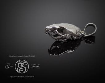 Tiny mouse  skull pendant
