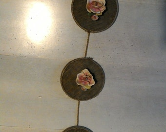 Panel velvet and flowers capodimonte-decoration capodimonte-flowers ceramic-decor from -arredamento vintage wall