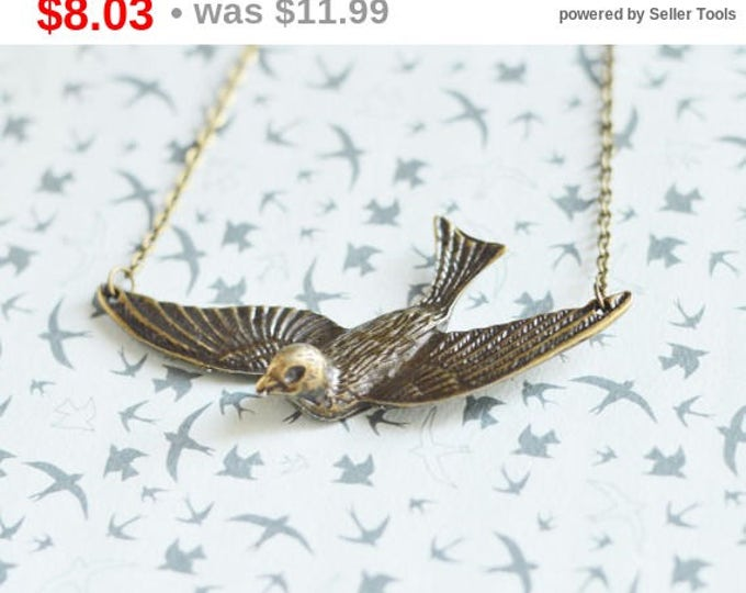 The Flight Of Swallows // Necklace in brass metal // 2015 Best Trends // Fresh Gifts // Fashion, Style, Beauty // Vintage Style, Boho Chic