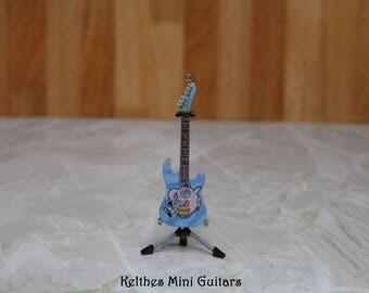 Handmade miniature guitar pendant with Pokemon Jigglypuff