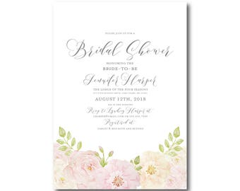 Floral Bridal Shower Invitation, Printable Bridal Shower Invitation, Printable Invitation, Bridal Shower, Bridal Shower Printable #CL215
