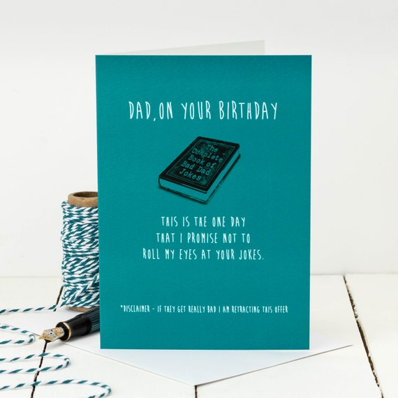 Funny Birthday Card For Dads Bad Dad Jokes Funny Card For