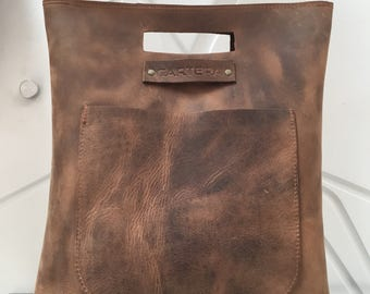 Distressed BROWN Leather Laptop Bag, Leather Brown bag, Leather Bag, Leather large purse,