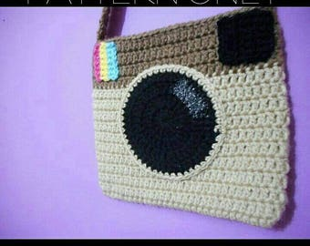 Crochet camera purse **pattern only**