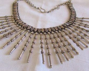 Sterling Silver Tapered Spike Necklace