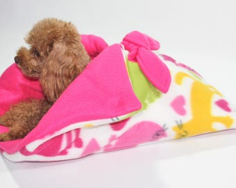 Snuggle Sack Bed for Teacup Dogs, Cats, Dolls, Stuffed Animals CATS