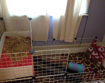 Custom made to order 4x2 with 1x2 loft c&c cage liners (guinea pigs - cage not included)