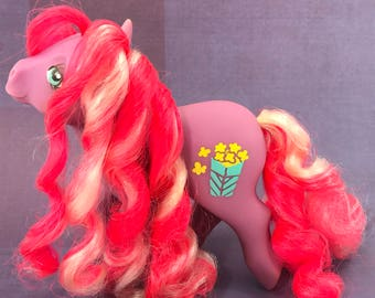 """FREE SHIPPPING! Vintage My Little Pony MLP """"Caramel Crunch"""" Popcorn Symbol Candy Cane Ponies"""