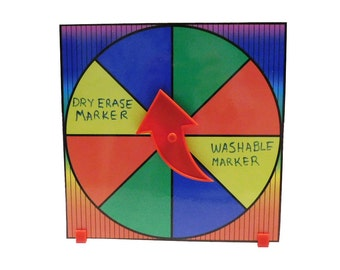 Prize Wheel Party Game Spinner Customize with Dry Erase or Washable Marker FREE SHIPPING