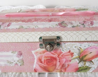 Shabby Chic Chest- Mother's day Gift - Jewelry Box