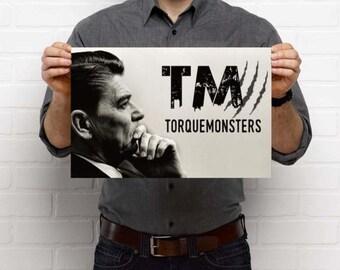 Ronald Reagan TorqueMonsters Poster