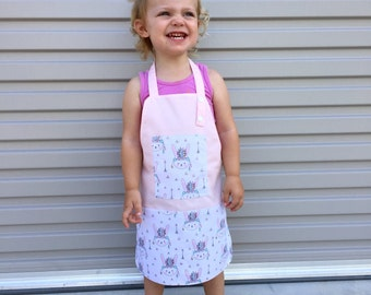 Kids apron / girl's chef apron / children's apron