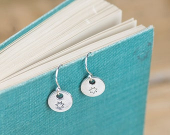 Fine Silver Star Earrings - Silver Star Earrings - Celestial Charm Earrings - Silver Star Charm - Fine Silver Earrings - Star Earrings