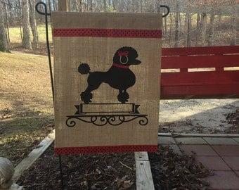 Poodle/Dog/Poodle Personalized Garden Flag/Poodle Garden Flag