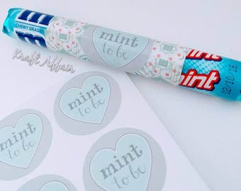 "24 ""Mint to be"" Stickers - Weddings, engagements, hens vow renewals - Favours, envelope seals, gift tag, giftwrapping, card making"