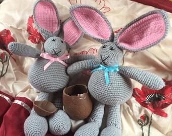 Hand crochet Easter bunny