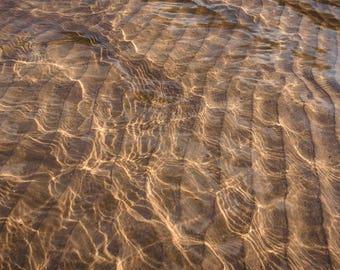 Sunlight Reflections on Lake Michigan
