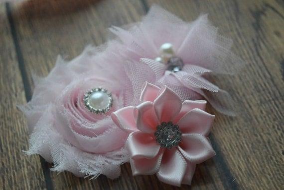 Flower Baby clip, Newborn clip,  Infant Headband,Baby Headband, Headband Baby, Baby Headband, baptism  headband