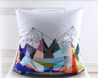 Decorative pillow cover/ black white cushion cover/ geometric pillow throw/pillow sham