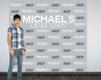 Graduation Personalized Photo Backdrop, Congrats Grad Photo Backdrop, High School Grad Photo Backdrop, Photo Booth Backdrop, Class of 2017