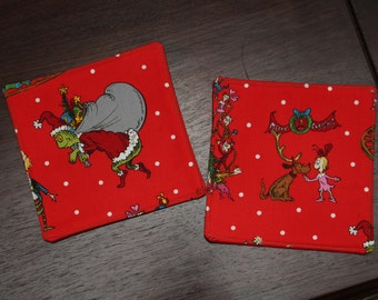 GIFTS UNDER 15 How the Grinch Stole Christmas Mug Rug Candle Mat Plant Mat Large Coaster