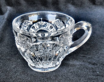 Cambridge Pressed Glass Punch cup in the Wheat Sheaf pattern circa 1900