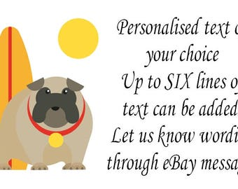 Funny Dog Self Adhesive Personalised Labels x 21