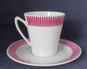 Upsala-Ekeby of Sweden, KP Karlskrona Sweden 5223 Coffee cup and saucer.