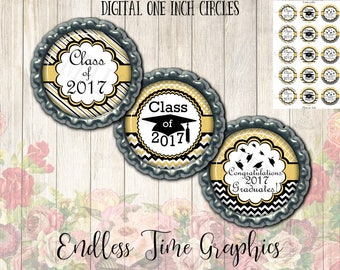 2017 Graduation Bottlecap Images. Digital 1 Inch Circle. Graduation Bottle Cap Image. Congratulations Graduate. Class of 2017 Bottlecap 014