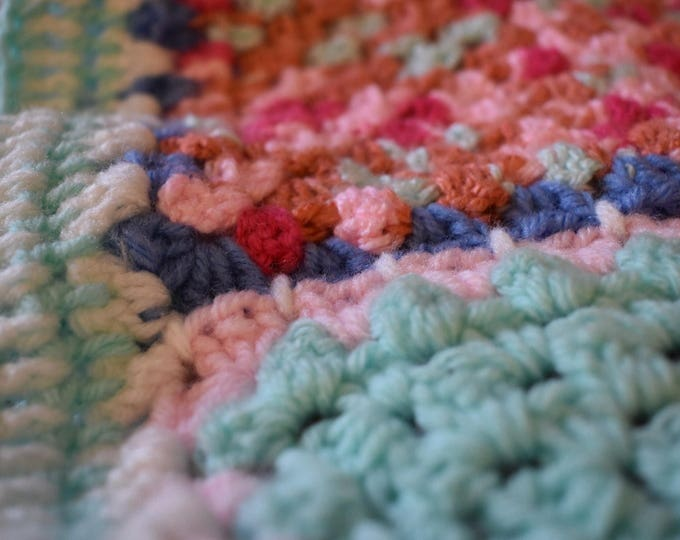 Featured listing image: Candy Shop Crochet Blanket