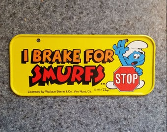 Smurfs, smurfs mini licence plate, smurfs licence plate, smurfs collectables