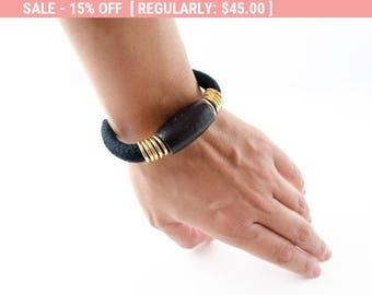 Black Cord Bracelet, Black Cord, Black Bracelet, Cord Bracelet, Black And Gold Bracelet, Black Statement Bracelet, Arm Party Bracelet