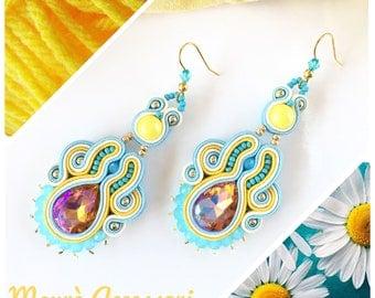 Soutache earrings, earrings Soutache, handmade earrings, jewelry, soutache embroidery jewelry