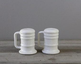 Pair of vintage ceramic salt & pepper shakers