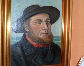 Oil painting on canvas 50 x 60cm signed Casey probably Denmark 30s