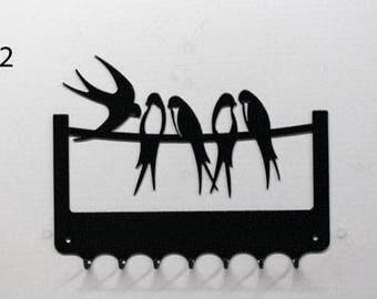 Hangs key pattern metal: swallows