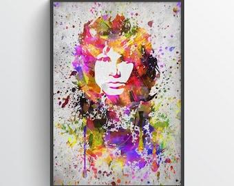 Jim Morrison Poster, Jim Morrison Print, Jim Morrison Art, Home Decor, Gift Idea